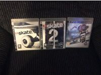 PS3 SKATE 1, 2 & 3 GAMES Boxed