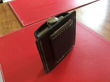 Custom made leather (cow hide) Hip Flask Holder. Uralla Uralla Area Preview