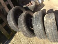 195/60/14 tyres on Ford wheels
