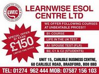 B1 and Life in the UK preparation classes in Bradford by Learnwise ESOL Centre