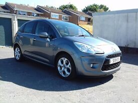 CITROEN C3 EXCLUSIVE 1.6 HDi, SAT NAV, LEATHER FULLY LOADED