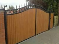 Brand new wrought iron driveway gates