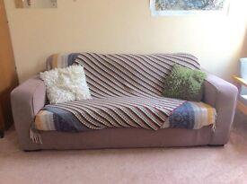 Three seater sofa - brown