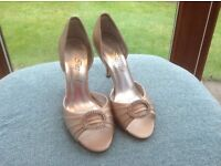 Champagne satin bridal/occasion shoes - size 5.5