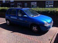 Vauxhall Corsa 1998 1.4 5 Door Blue Only 84k Miles