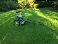Small pony cart for sale. Excellent condition. Transporting the cart can be arranged if nearby.