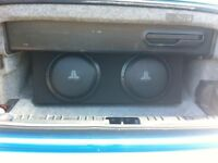 JL Audio twin subs, BMW E46 custom box and 300 watt muntant amp