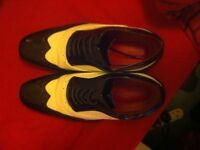 MEN'S ROSSELLINI LIMITED EDITION LEATHER SHOES - EXCELLENT CONDITION - COMES WITH BOX AND POUCHES