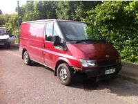 Ford Transit 2004 SWB Low Roof Rare Pepper RED