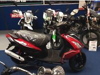Save £100 Jan Sale. AJS FLIGHT 125cc scooter, moped. Commuter bike. Finance options available £1259