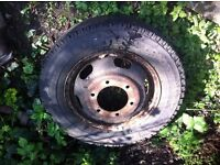 Ford Transit Truck wheel and 2 good tyres 185/75r16