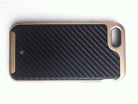 -Good quality Iphone 7 Case, Gold-&-Carbon fiber