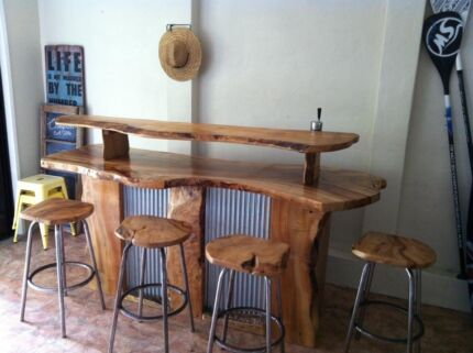 Handcrafted solid timber bar