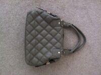 Unused Hotter Mushroom / Taupe Quilted Leather Handbag RRP £60