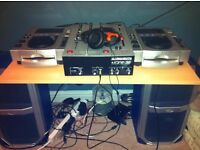 Allan and Heath Xone 32 Mixer / Pioneer CDJ 100 Decks, AKG headphones & Speakers/Amp included