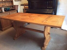 Pine Dining Room Table, Seats 6 + easily