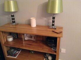 NEXT wood half height bookcase display shelf cabinet