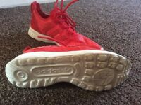 red women's trainers adidas size 4 uk