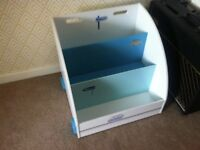 Vertbaudet Mobile Bookcase / Toy Storage Campervan Design Good Condition