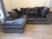 Left Hand Corner Sofa For Sale Can do in Grey Black Blue Silver