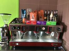 Wega 3 group coffee machine and grinder Darra Brisbane South West Preview