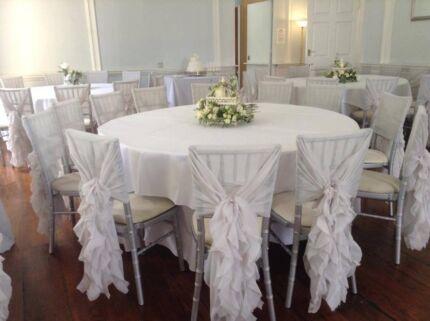 Hire from $3.50 Chiffon Chiavari Chair Cap! Albury Albury Area Preview