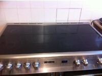 silver & black electric cooker