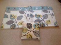 Next eyelet curtains and matching cushion