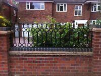 Metal steel fences