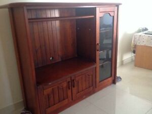 Display cabinet in solid dark mahogany.  Dimension 1660mm x 500mm Mortdale Hurstville Area Preview