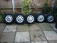Old school Ford Pepper Pot Alloys from Sierra will fit, escorts, fiestas, Orion