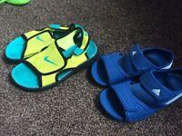 sandals nike and adidas size both 13 uk boys