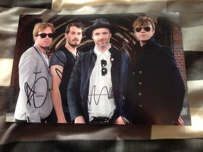 TRAVIS BAND HAND SIGNED 12 X 8 PHOTO THE MAN WHO EVERYTHING AT ONCE FRAN HEALY
