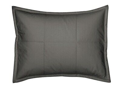The Company Store LaCrosse Quilted Pillow Sham Charcoal Gray Standard solid NEW Company Store Pillow