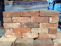 GENUINE RECLAIMED 70MM DERBY RED BRICKS - 40,000 AVAILABLE.
