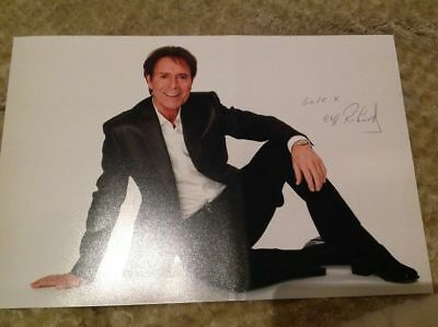 SIR CLIFF RICHARD HAND SIGNED 12 X 8 PHOTO THE SHADOWS LEGEND WITH COA