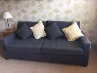 Excellent Condition John Lewis Slate Sofa Bed Sits 3 Sleeps 2