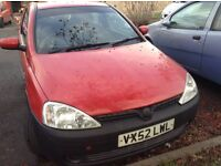 2002 Vauxhall Corsa-SPARES OR REPAIRS