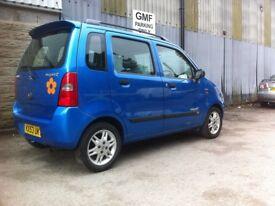 Suzuki WAGON R+, 2003 (53) Blue Hatchback, Automatic Petrol, Factory Alloy wheels