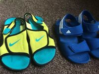 sandals nike and adidas 13uk kids