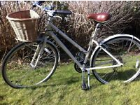 Classic Retro Bike with Shopping Basket