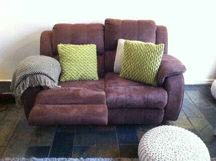 Couch sofa Recliner Brown Suede chair Templestowe Manningham Area Preview