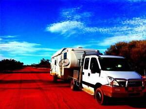 Jazz 31ft Fifth Wheeler Family Bunkhouse with 6 seater 2011 Iveco Maleny Caloundra Area Preview