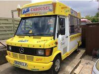 Mercedes 208d ice cream van