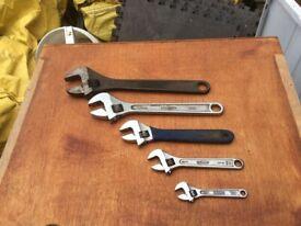 Draper adjustable spanner set