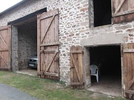 France , Limousin region . 2 Stone barns with 6754 square meters of land situated in a hamlet