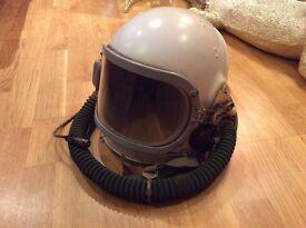 SOVIET RUSSIAN AEROFORCE SPACE HELMET GSH-6A USSR MIG 21,23 & 25 High altitude helmet