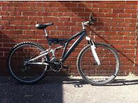 "mens large 20"" full suspension bike"