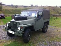 Lightweight Landrover. Ex military with trailer in great condition. A great first landy
