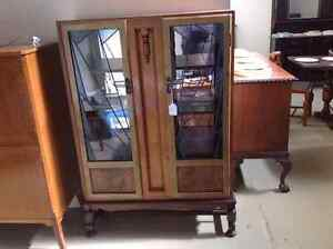 Antique leadlight display cabinet Port Sorell Latrobe Area Preview